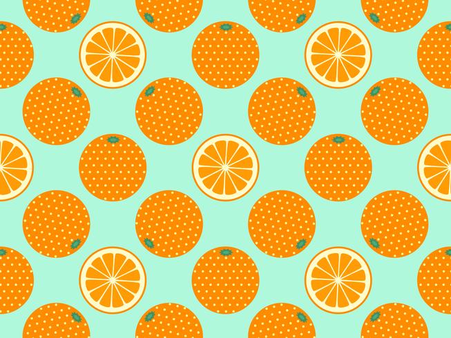 Frutta arancione Pop Art Vector Background