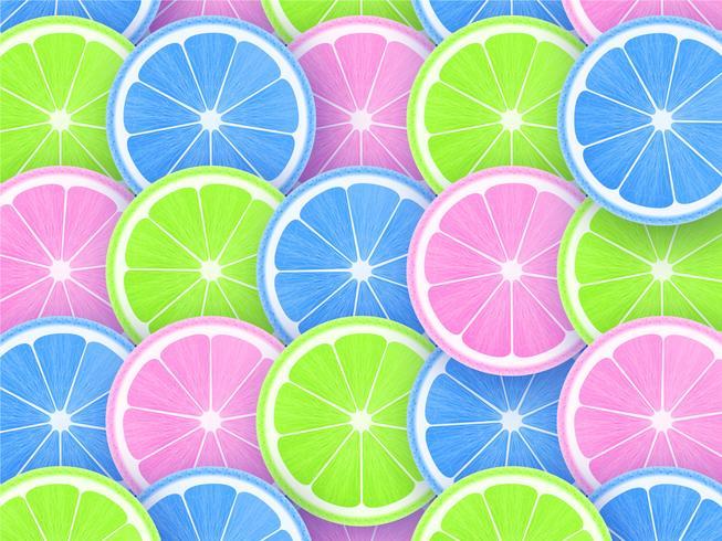 Citrusskivor för popfärgstilbakgrund