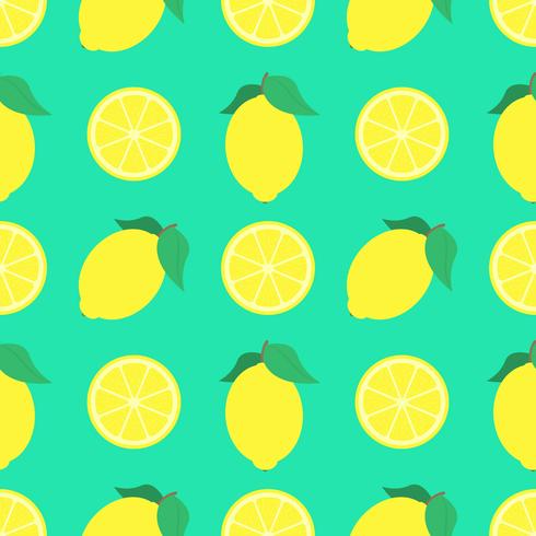 Summer Lemons Seamless Pattern Background