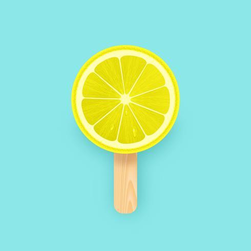 Ghiacciolo creativo della fetta di limone
