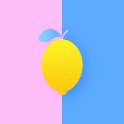 Citron sur duo pop couleur fond