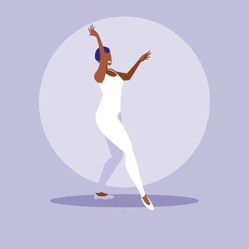 femme noire dansant