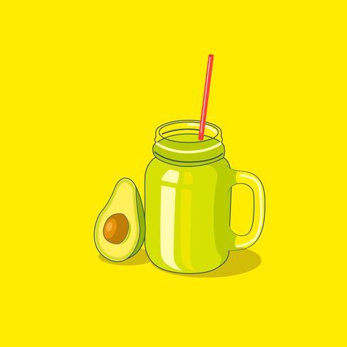 Fatia de abacate e abacate bebida
