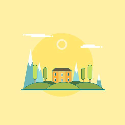 Mansion su un bellissimo paesaggio