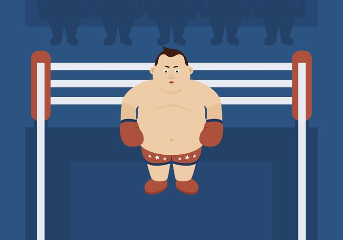 Heavyweight Boxer in the Ring
