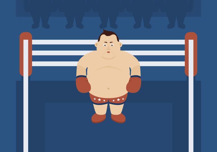 Zwaargewicht bokser in de ring