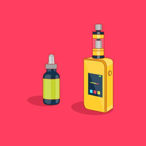 Vape Smoking Vaporizer Machine with Refill vector