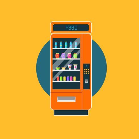 Distributeur moderne avec collations et boissons