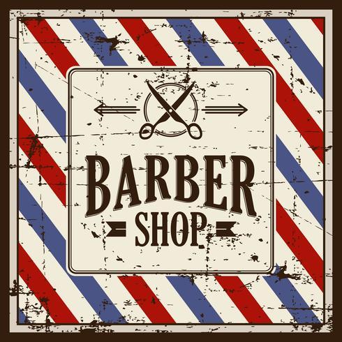Segno del negozio di barbiere di grunge