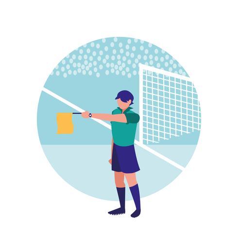 voetbal scheidsrechter man avatar karakter vector