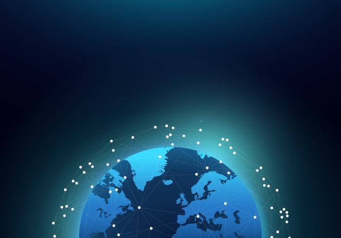 Mapa internacional del globo 3D