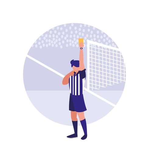 soccer referee yellow card avatar character