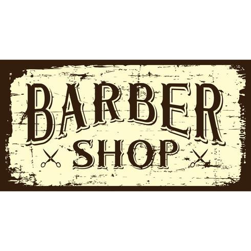 Enseigne de barbier B & W