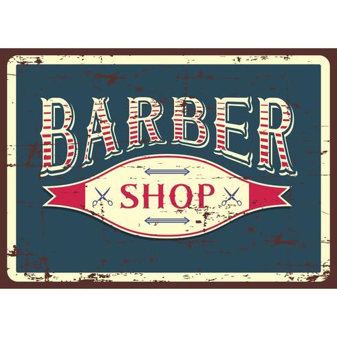 Segno del negozio di barbiere blu
