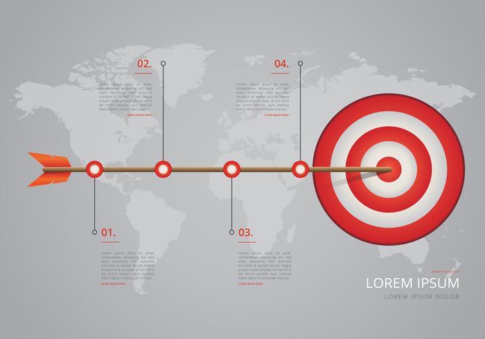 Timeline on Target Steps Infographic