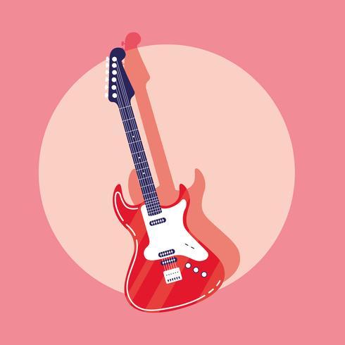 E-Gitarren-Instrument-Symbol vektor