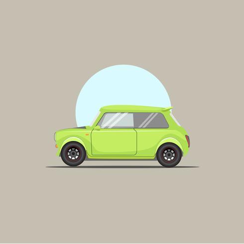 Carro de motor verde
