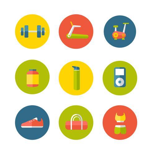 Apparatuur voor Gym Icon set