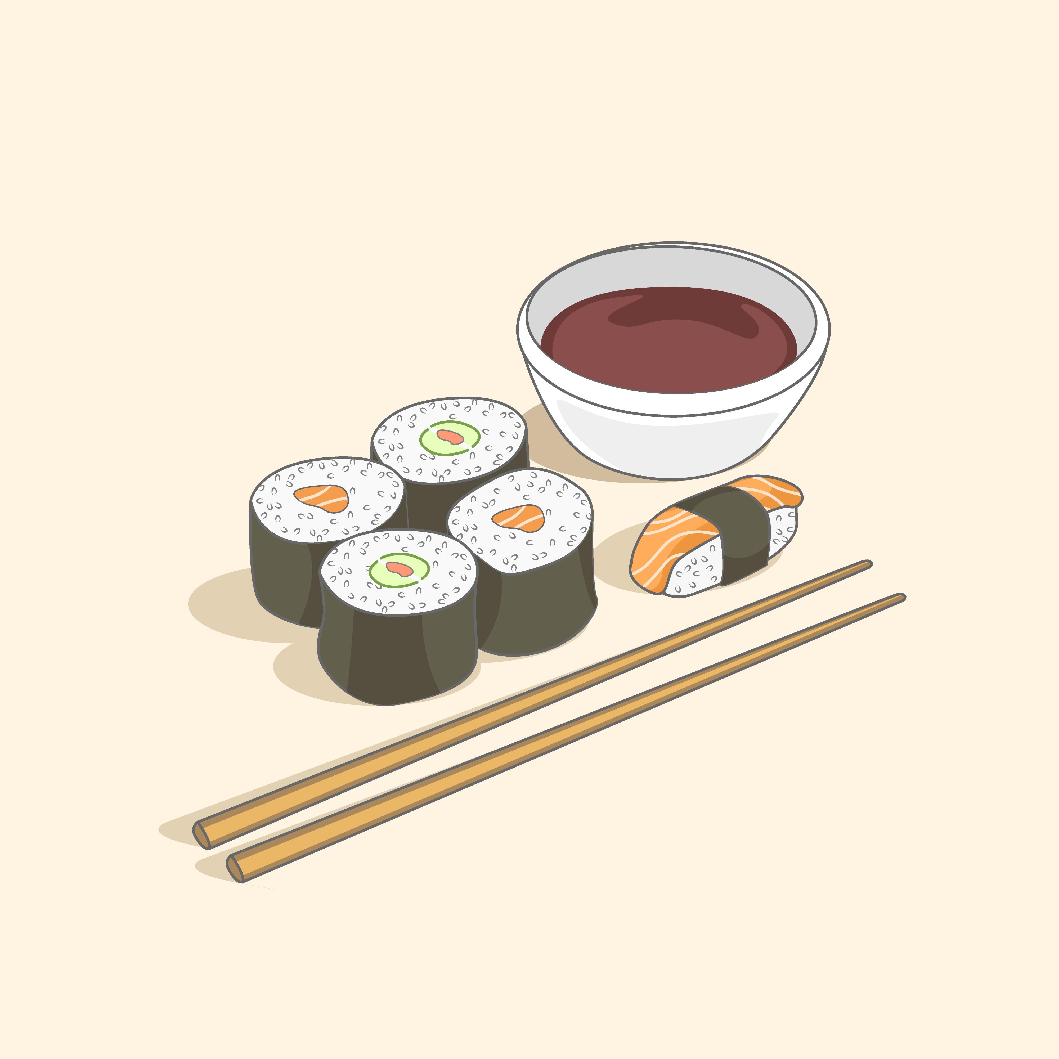 мультяшные картинки для суши могут