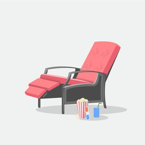 Movie Theater Luxury Recliner Chair With Popcorn And Soda Can Download Free Vectors Clipart Graphics Vector Art