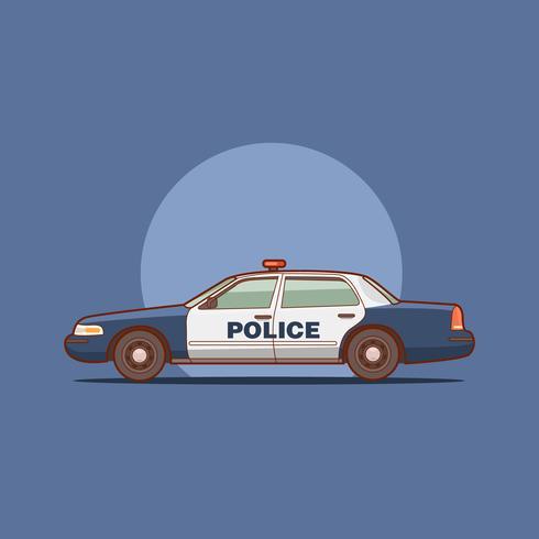 Vista laterale dell'automobile della pattuglia dell'intercettore della polizia