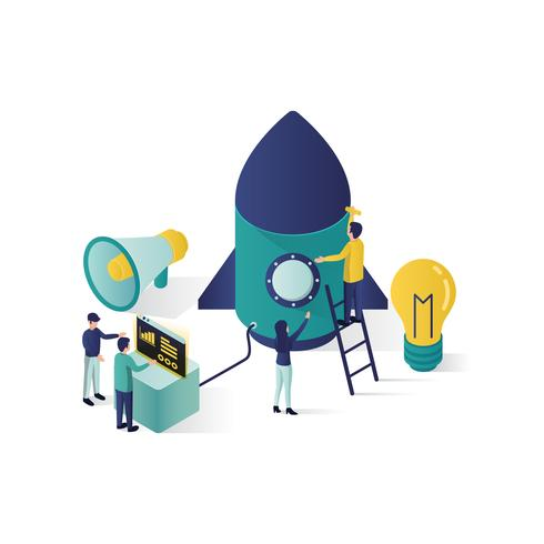 teamwork concept isometrische illustratie