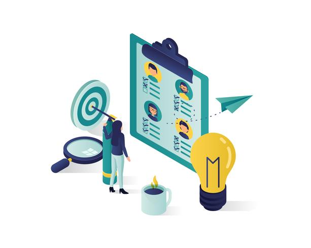 searching for candidate isometric illustration vector