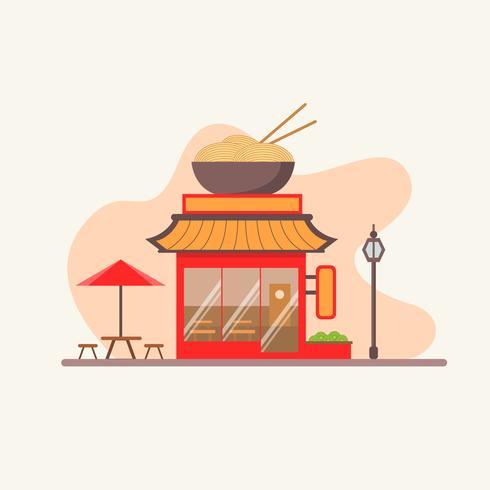 Restaurant chinois avec terrasse dans la rue