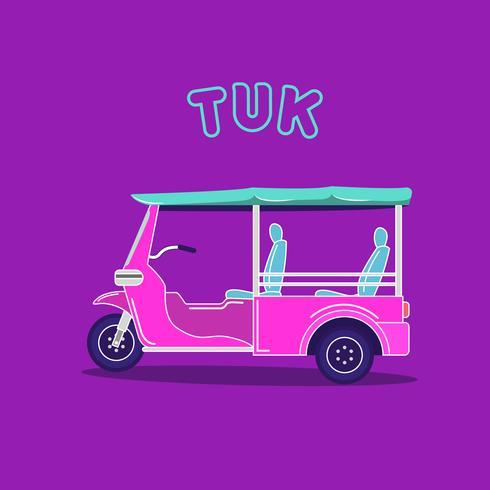 rosa och blå snygga tuk-tuk fordon