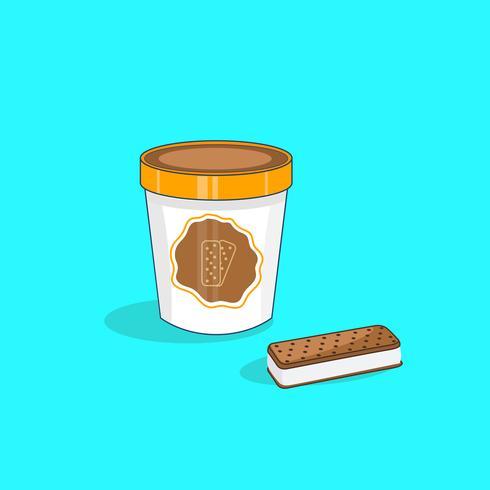 Sobremesa de sanduíche de sorvete