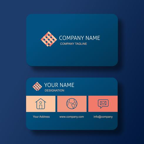 Modern Elegant Business Card with Square Abstract Logo