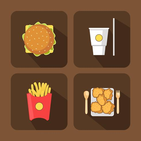 Fast Food Elements Icon-Set