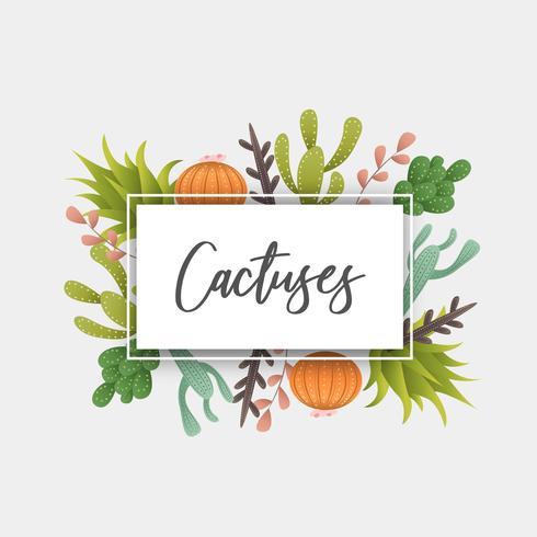 Cadre de décoration de cactus bio