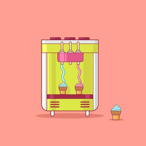 Máquina de venda automática de sorvetes vetor