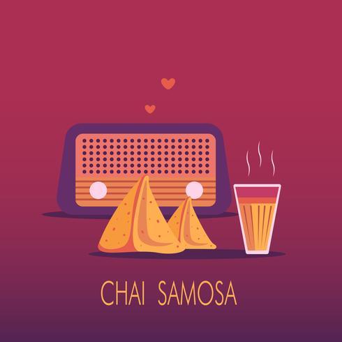 India Chai Tea with Samosa Snack