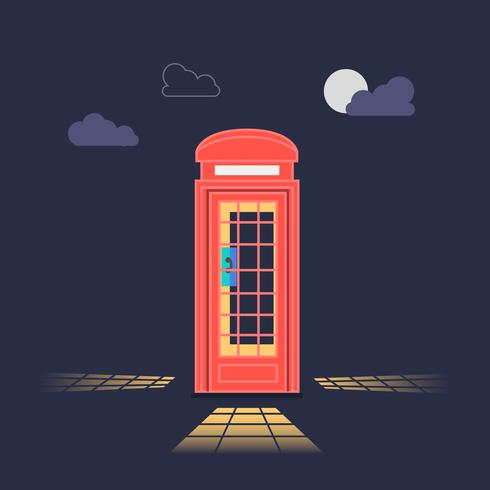 Vintage Retro Styled London Phone Booth