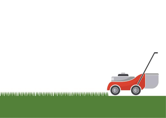 Lawn mower cutting grass with isolated background vector