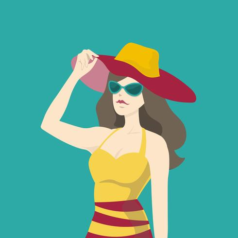 bbd972377d Moda donna bella in estate - Scarica gratis arte vettoriale ...