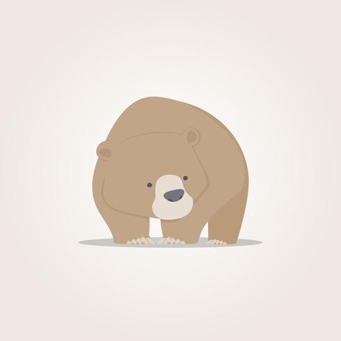 Urso bonito dos desenhos animados, urso bonito design de personagens