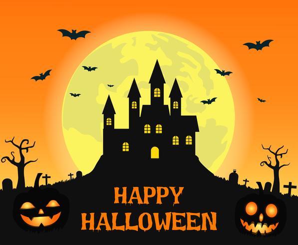 Halloween Creepy Castle  vector