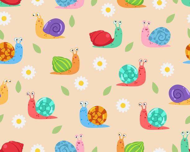 Caracoles con Patrón de Flores