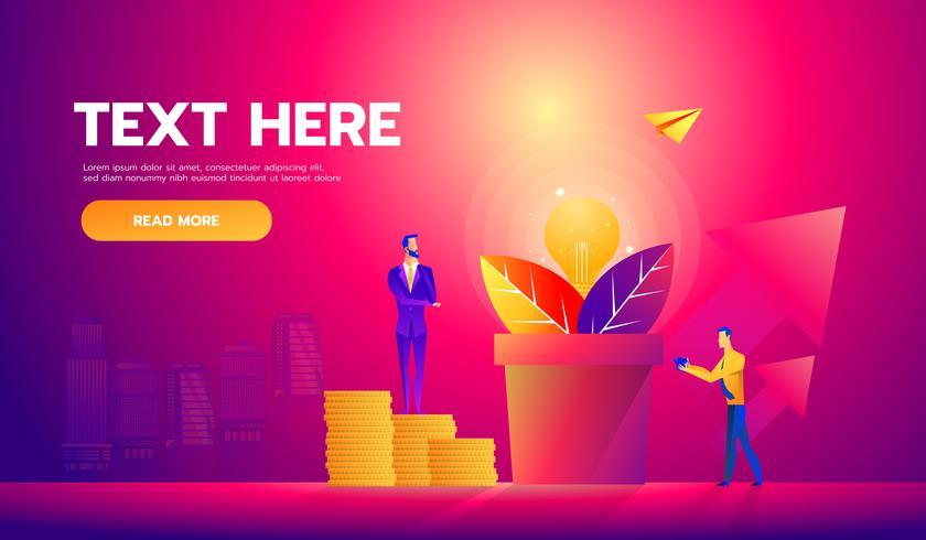 Empresarios recogiendo dólares del árbol del dinero. vector