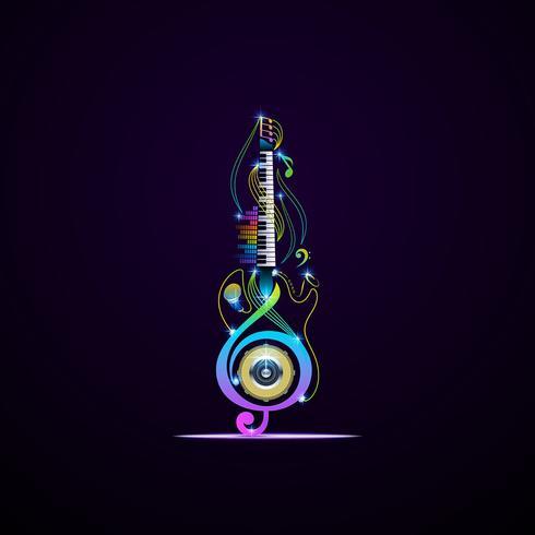 Progettazione di strumenti musicali vettore