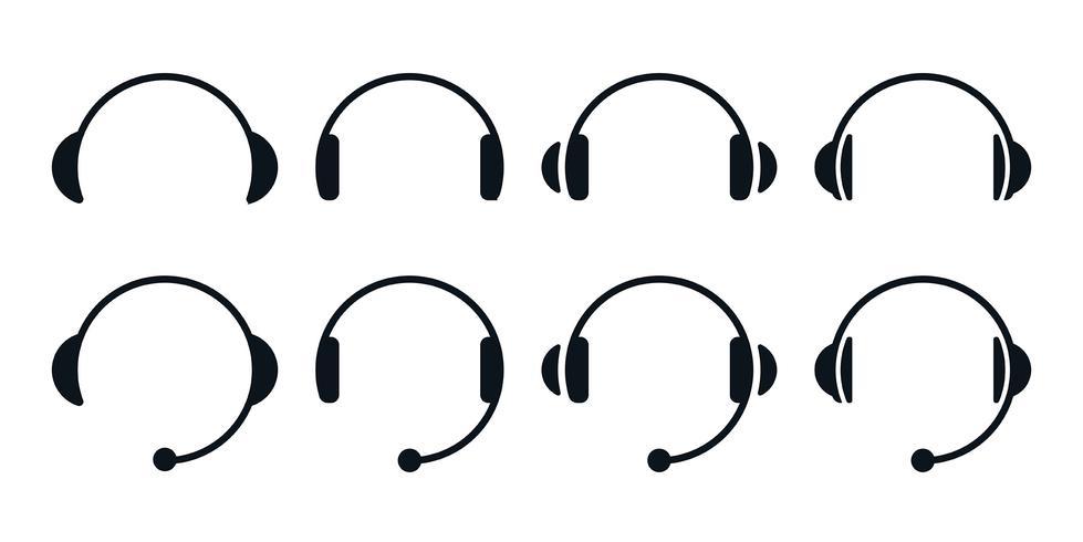 Hörlurar Ikonuppsättning