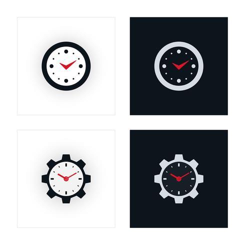 Minimale klokpictogrammen