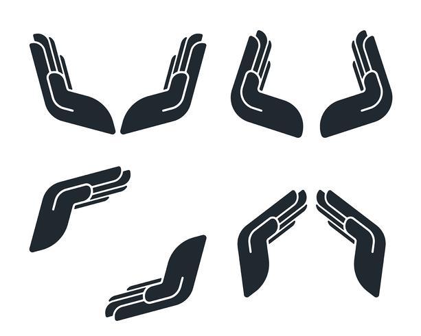 Iconos protectores de la mano vector