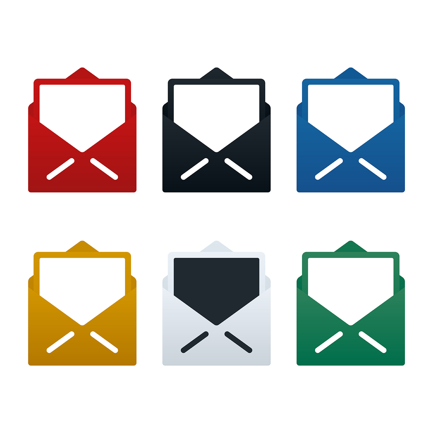 Postcards and open envelope icons 662131 - Download Free
