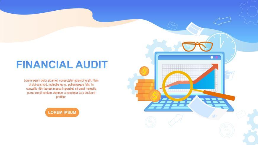 Financial Audit Illustration vector