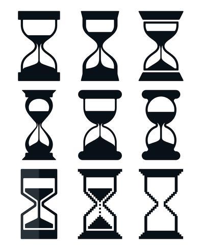 Conjunto de ícones de ampulheta