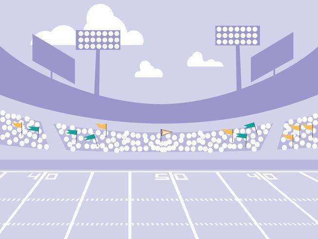 escena del estadio de fútbol americano vector